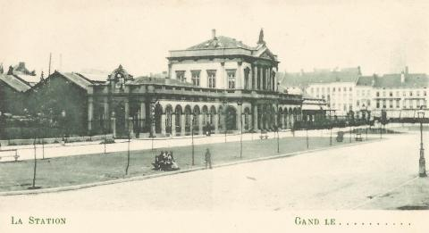 Het oude Gentse Zuidstation