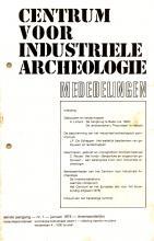 Mededelingen van het Centrum voor Industriële Archeologie, 1975, 1