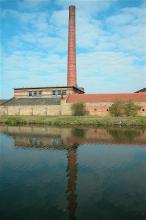 schoorsteen in Kortrijk, recent gesloopt
