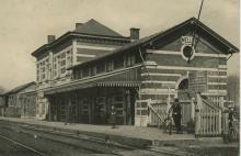 Het station van Melle - oude postkaart