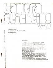Tamera Stichting vzw. Mededelingsblad, 1975, 1