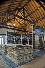 """""""Cent Elements del Patrimoni Industrial de Catalunya"""", in de kartonfabriek 'Herisemmolen' in Alsemberg"""
