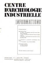 Centre d'Archéologie Industrielle. Informations, 1976, nr 1
