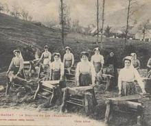 vlas brakelen in de Franse Ariège